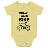 Crawl Walk Bike Baby Bodysuit
