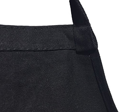 Men's Fun Grilling Apron: Caution Extremely HOT (Black)