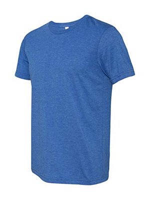 Unisex Triblend Short-Sleeve T-Shirt, True Royal Triblend, Size Small