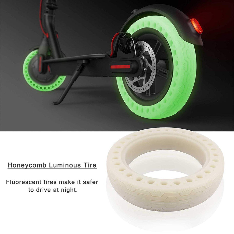 Electric Scooter Tire Fluorescent Green
