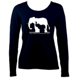 Elephants and ivory Women's Long Sleeve T-Shirt