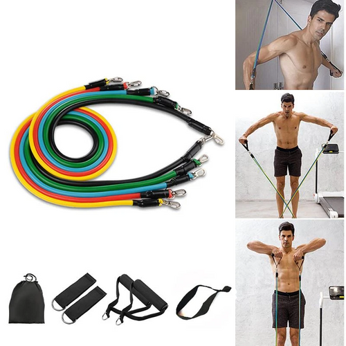 11PC ULTIMATE FITNESS RESISTANCE BAND SET