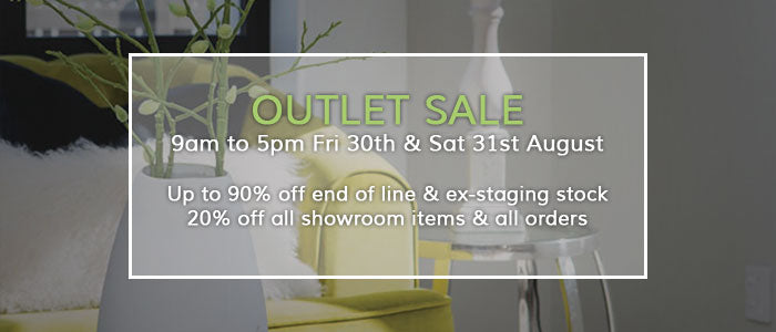 Outlet Sale Friday 30th & Saturday 31st August
