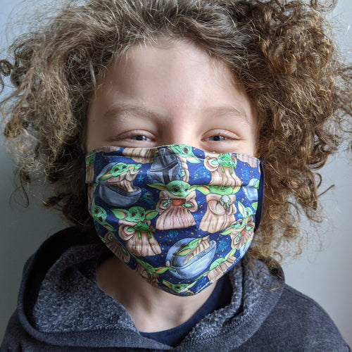 Youth Cotton Face Mask with Elastic Loops