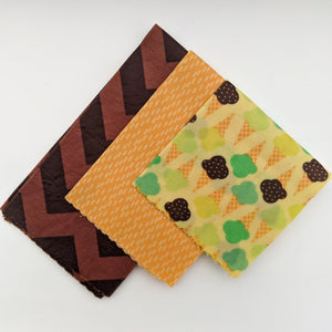 Ice Cream Cones Beeswax Wrap 3 Pack - Small Medium Large