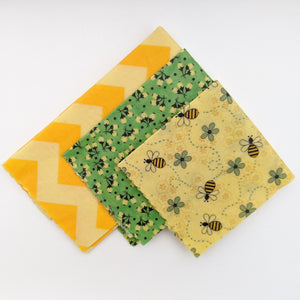 Bumble Beeswax Wrap 3 Pack - Small Medium Large