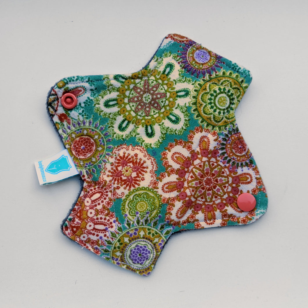 Coral and Teal Twist Panty Liner