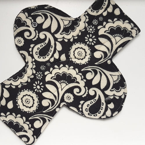 Classic Black and White Overnight/Postpartum Pad