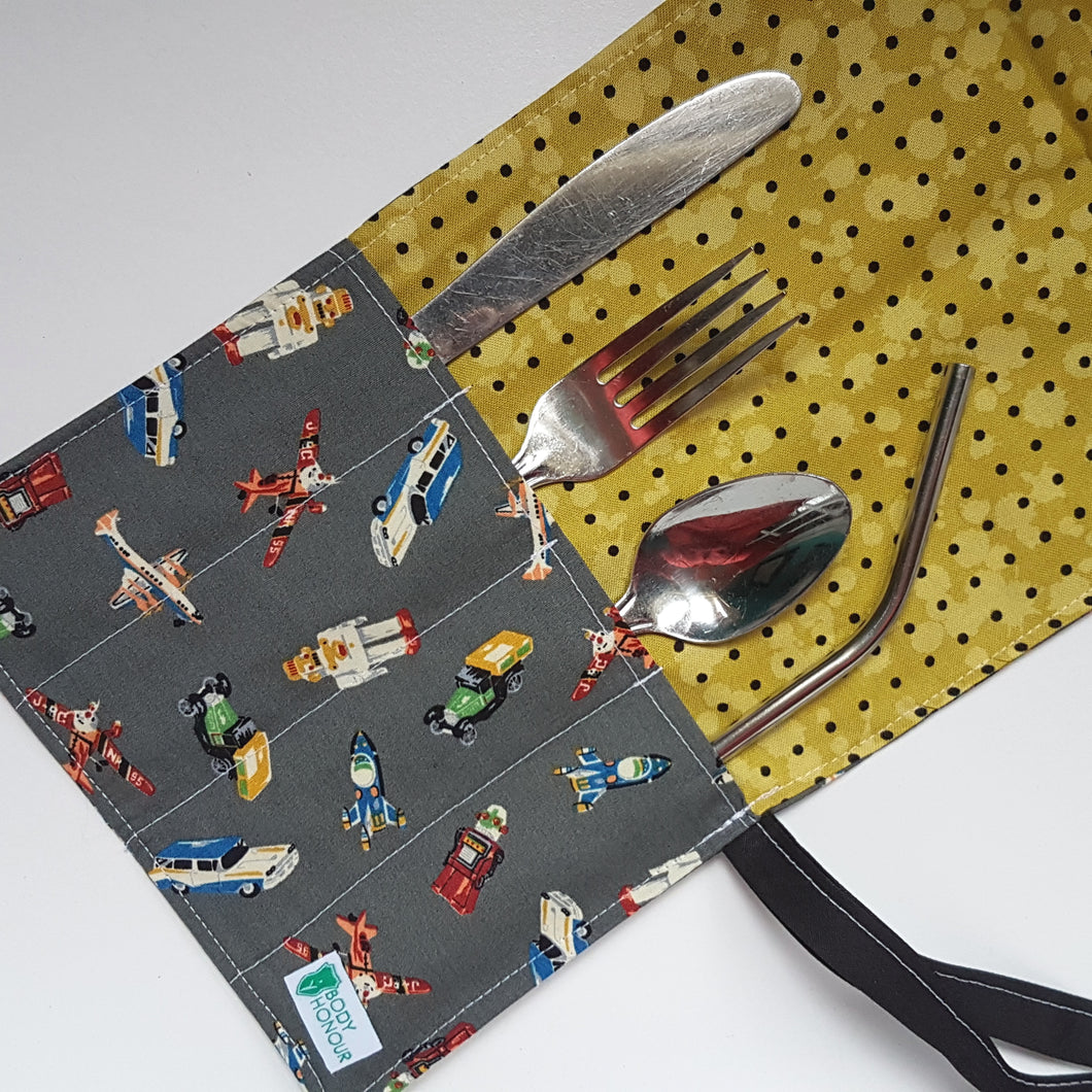 Vintage Toys Cutlery Roll and Napkin All-In-One