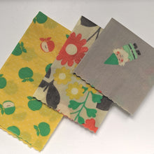 Load image into Gallery viewer, Gnome'a Your Beeswax Wrap 3 Pack - Yellow - Small Medium Large