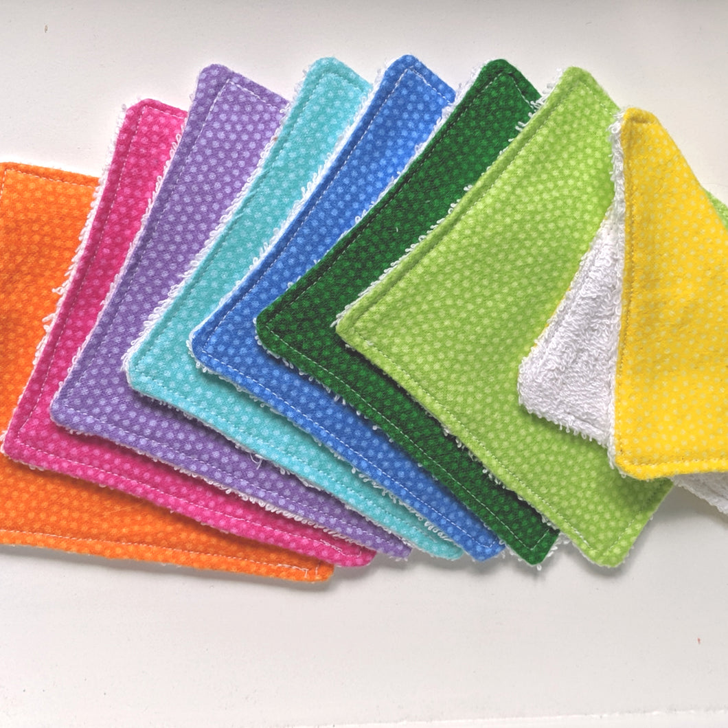 Rainbow Cotton Wipes