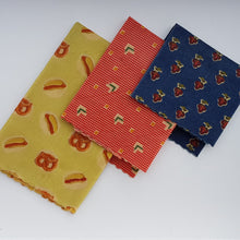 Load image into Gallery viewer, Weekender Beeswax Wrap 3 Pack - Small Medium Large