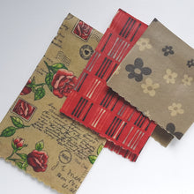 Load image into Gallery viewer, Love Letters Beeswax Wrap 3 Pack - Small Medium Large