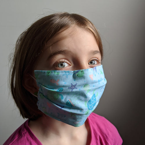 Child Cotton Face Mask with Elastic Loops
