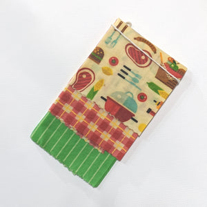 Grill and Chill Beeswax Wrap 3 Pack - Small Medium Large