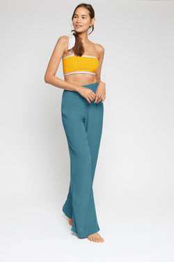 High-waisted trousers | Sea green