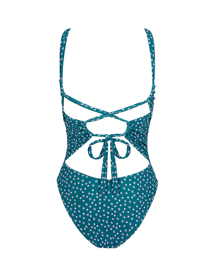 Cross-back Swimsuit | Risso Print