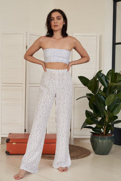 High-waisted trousers | Azure (blue)