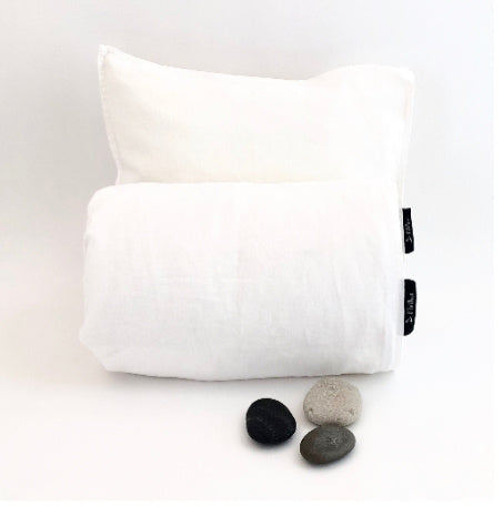 Baby duvet cover & pillow case, 100% linen, White