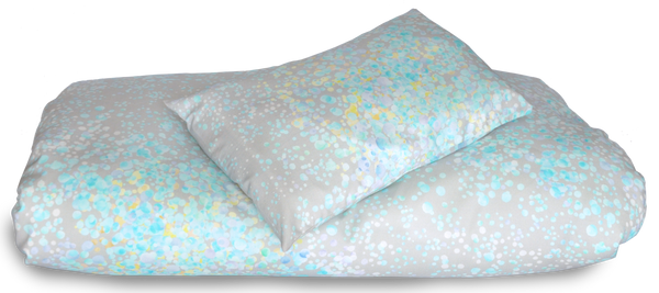 Baby duvet cover & pillow case set, Azure
