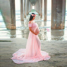 Maternity Dress For Photo Shooting Boat Neck pink Dress Maternty Photography Props Short Sleeve Stretch Cotton Pregnant Dress R3