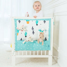 Muslin Tree Bed Hanging Storage Bag Baby Cot Bed Brand Baby Cotton Crib Organizer 60*50cm Toy Diaper Pocket for Crib Bedding Set
