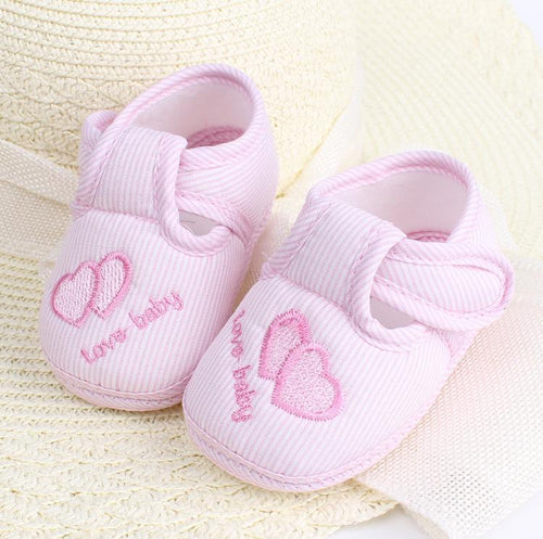 Cheap Baby Shoes Solid Cotton New Born Baby Girl Shoes Toddler First Walkers For 0-18 Month Baby Moccasins Sneaker Crib Shoes