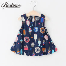 Summer Baby Dress Sleeveless Infant Dress Newborn Ice Cream Cotton Linen Dresses for Girls Casual Baby Girls Clothing