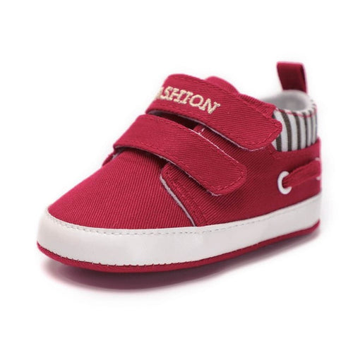 CHICHIMAO Infant Babies Boy Girl Shoes Sole Soft Canvas Solid Footwear For Newborns Toddler Crib Moccasins 4 Colors Available