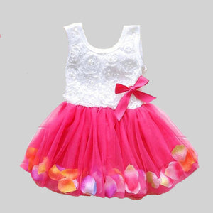 2018 Summer New Cotton Baby Infant Fairy Tale Petals Colorful Dress Chiffon Princess Newborn Baby Dresses Gift