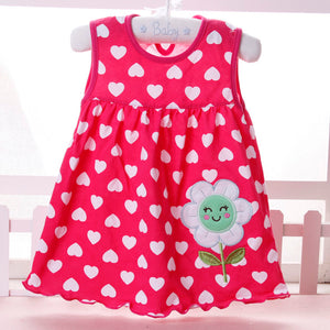 2018 new style Baby girl Dress summer girls dresses style infantile Dress hot sale baby girl clothes Summer flower style dress