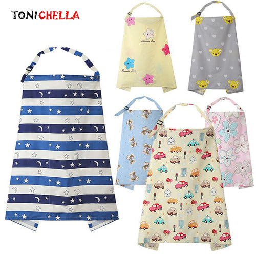Breathable Baby Feeding Nursing Covers Mum Breastfeeding Nursing Poncho Cover Up Cotton Adjustable Neckline Cover T0893