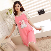 Cotton Cartoon Maternity 2016New Sleepwear Pregnant Women Pajamas Nursing Breast Feeding Nightgown Clothes For short Sleeve