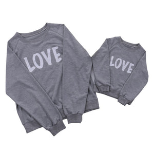 Couple T-Shirt Love Mother Son Daughter Matching Shirts Family Hooded Outfit Clothes