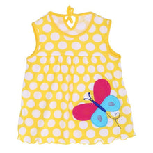 Newborn Baby Summer Dresses Girls Baby O-neck Sleeveless Cotton Princess Mini Dress Child Cute Pattern Decor Dot Clothes