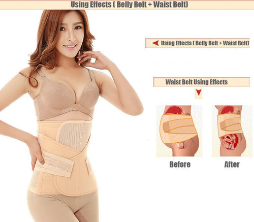 Waist Polyester Shapewear Breathable 3 in1 Belly Postpartum Abdominal Belt Recovery Belly/abdomen/pelvis Pregnant Women Reducer