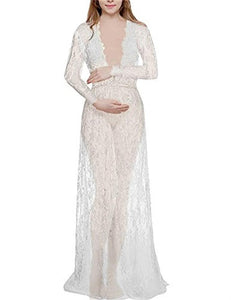 5 colors long sexy pregnancy dress V-neck transparent  lace dress maternity dresses for photo shoot pregnancy pajamas
