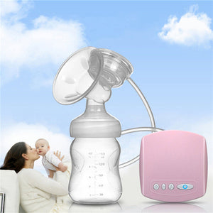 Automatic electric Large Suction Single Breast Pump Infant Baby Milk Extractor Gift With Pacifier Feeding Bottle USB Cable Set