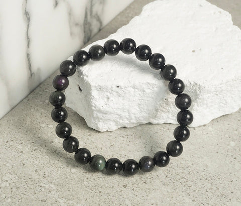 sugilite amethyst black tourmaline obsidian bracelet protection crystals philippines