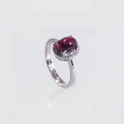 A-Grade Rhodolite Garnet with White Topaz - Gaea | Crystal Jewelry & Gemstones (Manila, Philippines)