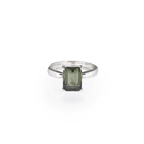 Moldavite Faceted Emerald Cut - Gaea | Crystal Jewelry & Gemstones (Manila, Philippines)