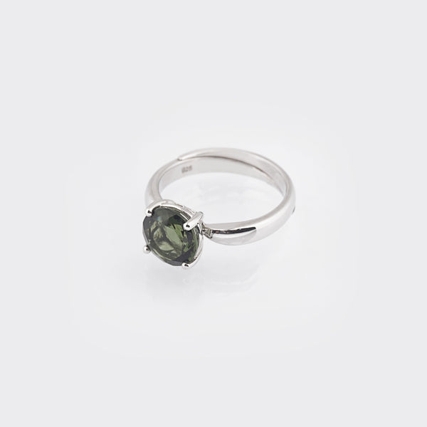 Moldavite Faceted Circle - Gaea | Crystal Jewelry & Gemstones (Manila, Philippines)