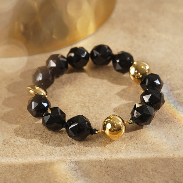 A-Grade Black Spinel Faceted 12mm