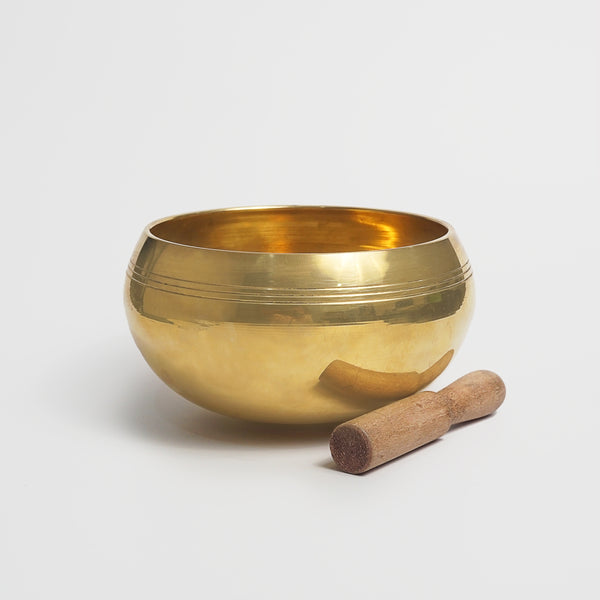 Brass Singing Bowl 15.5cm - Gaea | Crystal Jewelry & Gemstones (Manila, Philippines)