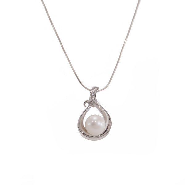 Freshwater Pearl with White Topaz - Gaea | Crystal Jewelry & Gemstones (Manila, Philippines)