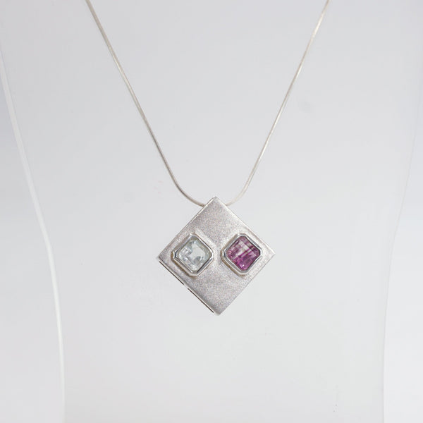 Blue Topaz with Fluorite Square - Gaea | Crystal Jewelry & Gemstones (Manila, Philippines)
