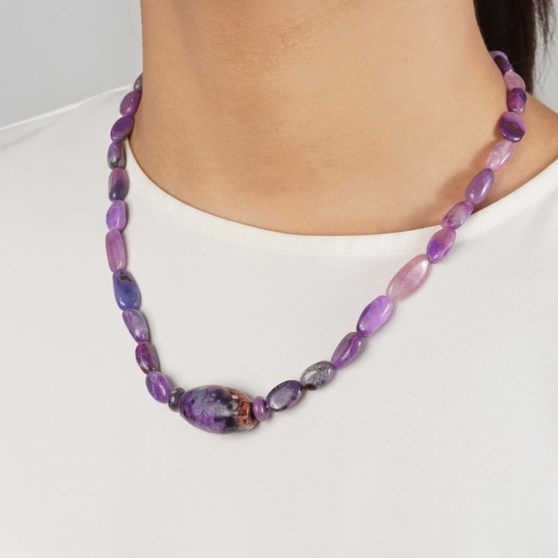 Sugilite Tumble with Barrel - Gaea | Healing Crystals and Gemstone Jewelry (Manila, Philippines)
