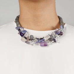 Multi-Strand Labradorite, Tanzanite, Amethyst, and Rainbow Moonstone - Gaea | Crystal Jewelry & Gemstones (Manila, Philippines)