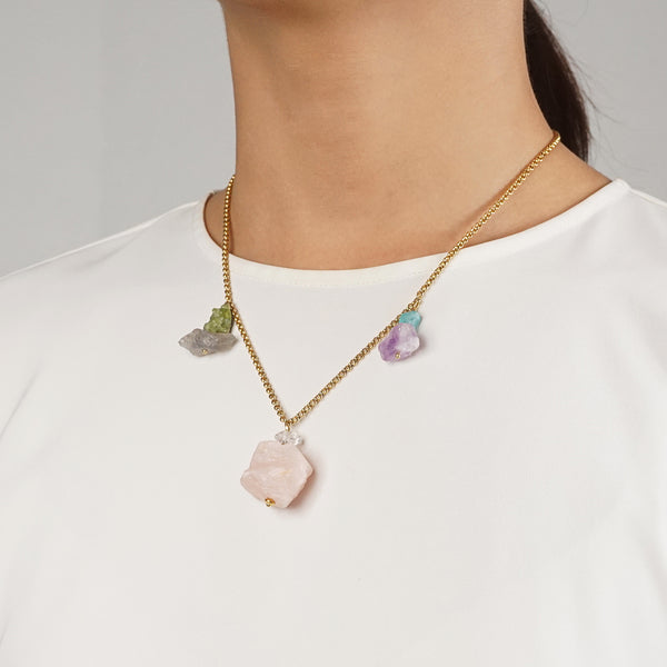 Raw Rose Quartz, Amethyst, Apatite, Peridot, and Labradorite - Gaea | Crystal Jewelry & Gemstones (Manila, Philippines)