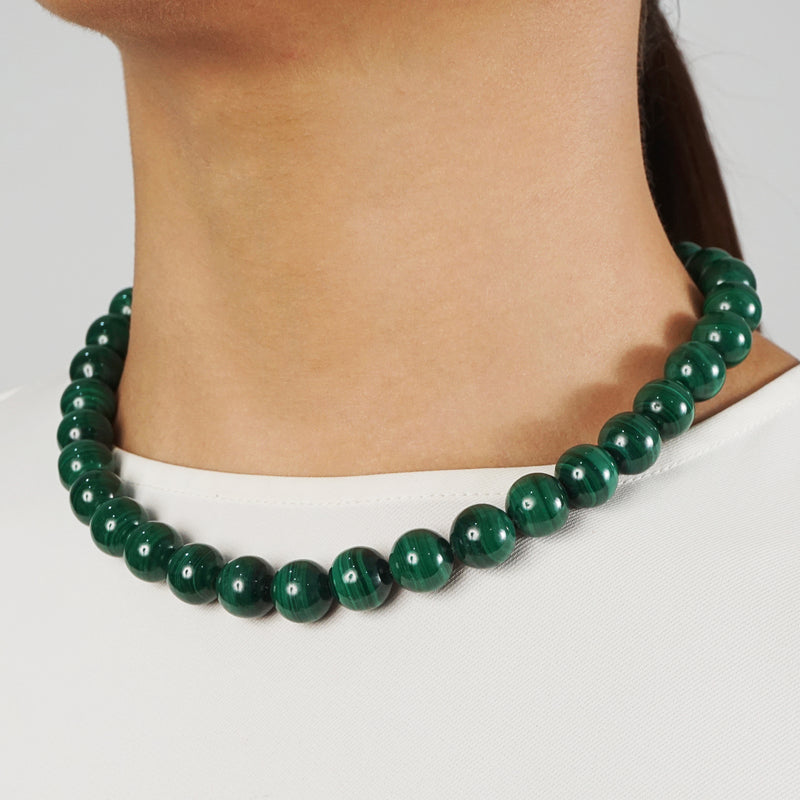 Malachite 12mm - Gaea | Crystal Jewelry & Gemstones (Manila, Philippines)